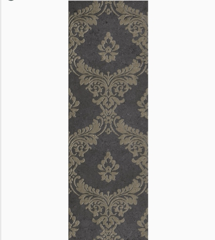 Декор Gracia Ceramica Silvia black decor 01 900х300