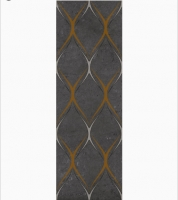 Декор Gracia Ceramica Silvia black decor 03 900х300