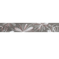 Бордюр AZORI Sonnet Grey Flower 405х62